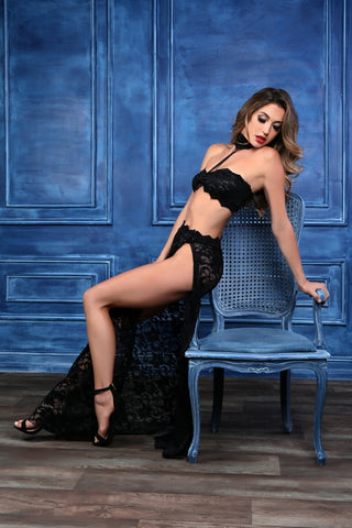 Image of Freya see through me bandeau top, skirt & g-string 3 pc. set-Bra Set-Fab Fantasies