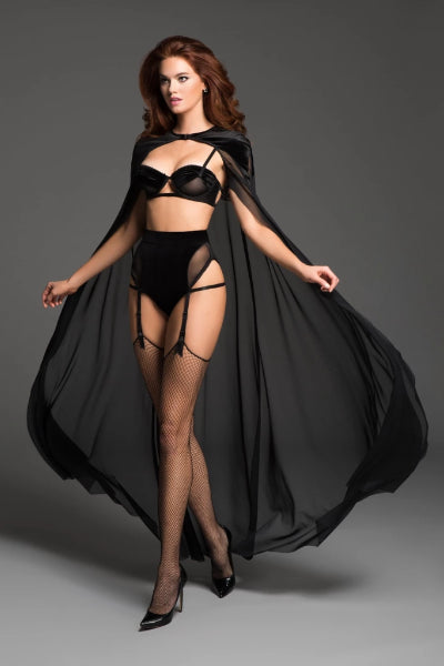 Emelia the kiss me again sheer cape-Cape-Fab Fantasies