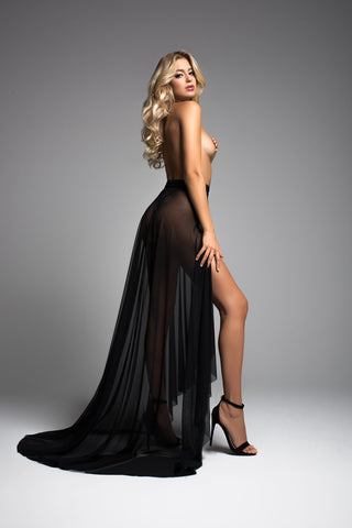 Taylor wrapped around you sheer skirt-Skirt-Fab Fantasies