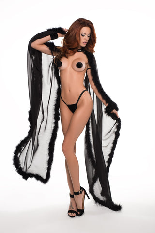 Katherine the french kiss cape o/s-Cape-Fab Fantasies
