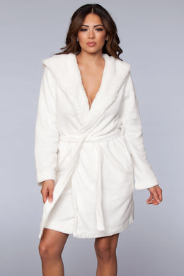Janet Ultra-soft Robe with Sherpa Lining-Robe-Fab Fantasies