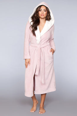 Janette Ultra-Soft Pink Robe-Robe-Fab Fantasies