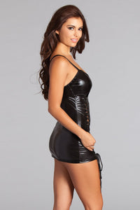Esme Wet Look Dress-Wet Dress-Fab Fantasies