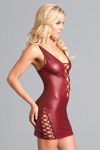 Elisa Deep Plunge Mini Dress-Wet Dress-Fab Fantasies
