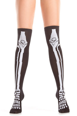 Skeleton Design Knee Highs-Knee Hi-Fab Fantasies