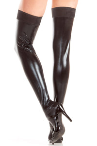 Hailee Wet Look Thigh Highs-Thigh hi-Fab Fantasies