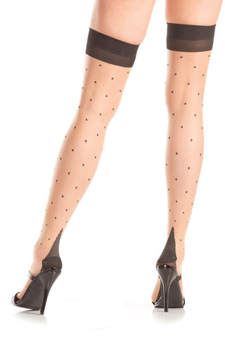 Bristol Thigh Highs with Cuban Heel-Thigh hi-Fab Fantasies