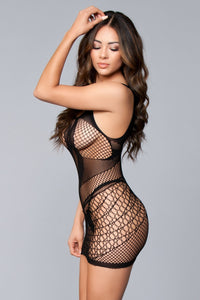 Miah Sleeveless Dress bodystocking-Bodystocking-Fab Fantasies