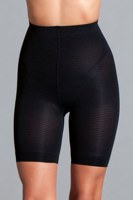 Giselle Black seamless high waist shorts. 90%-Body Shaper-Fab Fantasies