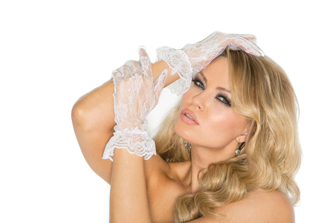 Image of Alisha Wrist Length Lace Gloves-Gloves-Fab Fantasies