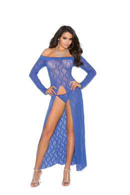 Karter Long Sleeve Lace Gown & G-stri-Gown-Fab Fantasies