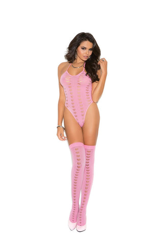 Image of Valentina Burnout Heart Teddy W/stocking-Teddy-Fab Fantasies