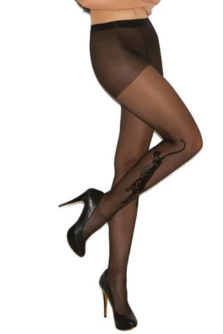 Image of Piper Sheer Tiger Pantyhose-Pantyhose-Fab Fantasies