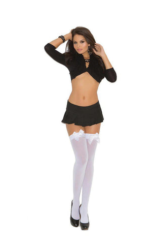 Image of Sage Opaque Thigh Hi With Satin Bow-Thigh hi-Fab Fantasies