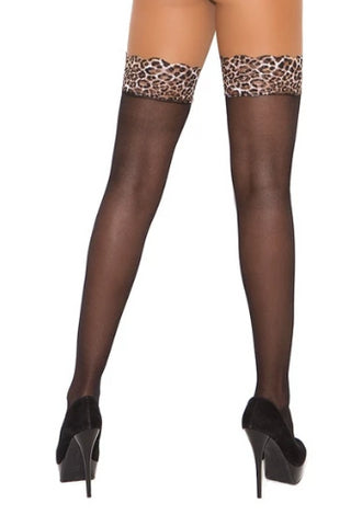 Aitana Sheer Thigh Hi W/leopard Top-Thigh hi-Fab Fantasies