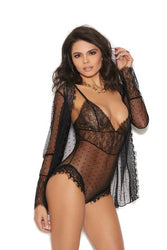 Lauren Dotted Mesh Teddy & Jacket-Teddy-Fab Fantasies
