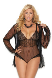 Kara Dotted Mesh Teddy & Jacket-Teddy-Fab Fantasies