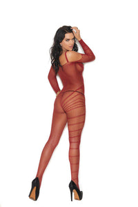 Melissa Cold Shoulder Bodystocking-Bodystocking-Fab Fantasies