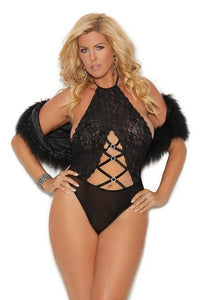 Marlowe Teddy W/criss Cross Design-Teddy-Fab Fantasies