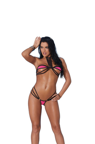 Saanvi 2 Pc. Swimwear Set-Micro Bikini-Fab Fantasies