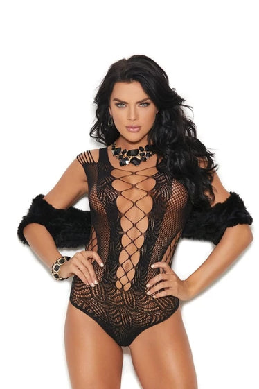 Alma Teddy With Lace Up Detailing-Teddy-Fab Fantasies