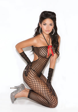 Alina Crochet Footless Bodystocking-Bodystocking-Fab Fantasies