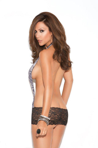 Image of Claire Mini Dress W/ Lace Skirt-Dress-Fab Fantasies