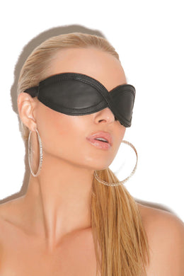 Chaya Leather Blind Fold-Blindfold-Fab Fantasies