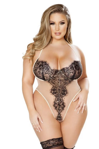 Image of Reyna Elegant Sheer Eyelash Teddy-Teddy-Fab Fantasies