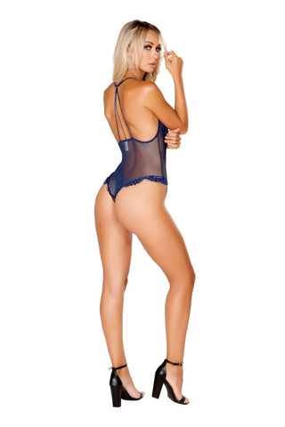 Milan One Piece V-Shaped Eyelash Lace & Satin Teddy-Teddy-Fab Fantasies