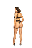 Molly 3Pc Collared Garter Set