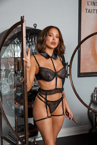 Image of Molly 3Pc Collared Garter Set