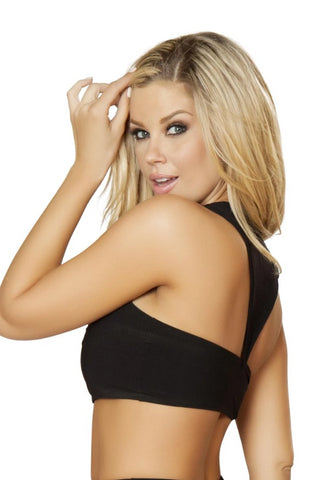 Image of Chelsea Cropped Top With Zip Up Front Detail-Top-Fab Fantasies