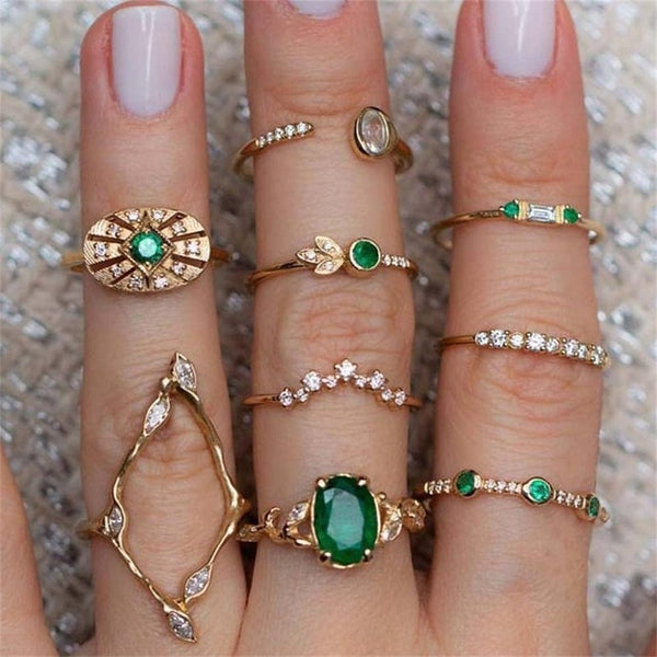Eleanor Stacking Bohemian Ring Set-Jewelry-Fab Fantasies