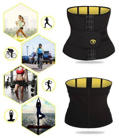Tummy Control Slimming Fat Burning Sweat Girdle