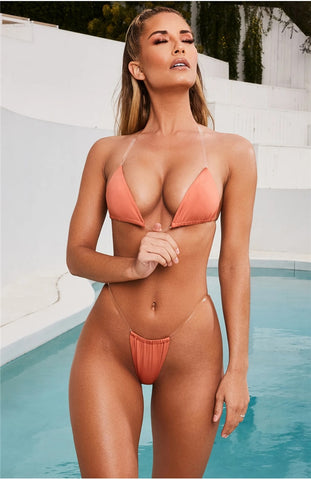 Neon Solid Color Transparent Strap Bikinis-Bikinis-Fab Fantasies