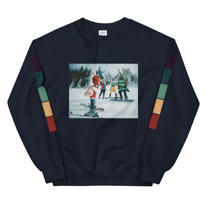 Santa's Ski Squad Unisex Sweatshirt -  Layered Clothing Co.