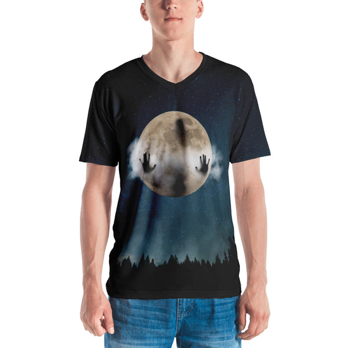 Man in the Moon Men's All-Over Print Short-Sleeve V-neck - Layered Clothing Co.