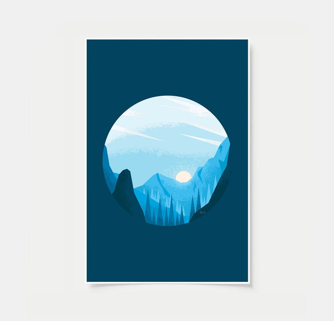 Cerulean Skies - Nature Woodland - Bedtime Poster