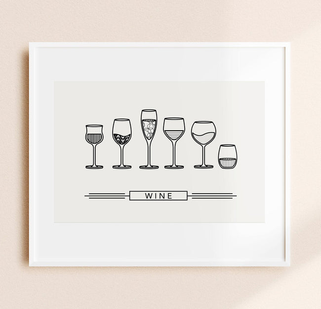 Wine Glass Designs - Wine Wall Decor