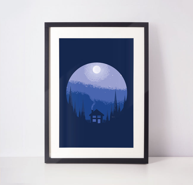 Azure Hearth - Nature Woodland - Bedtime Poster