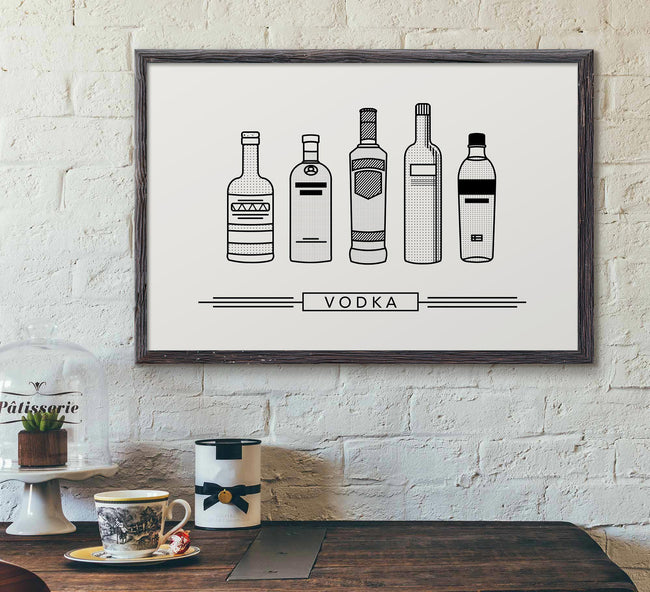 bar decor framed picture - vodka