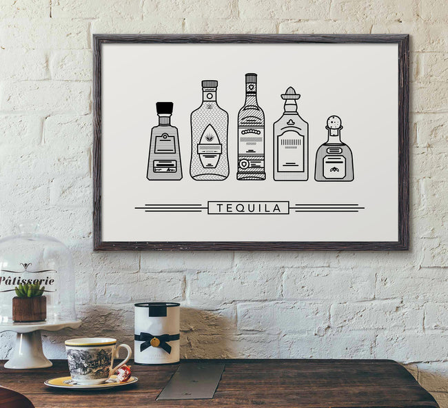 bar decor framed picture - tequila