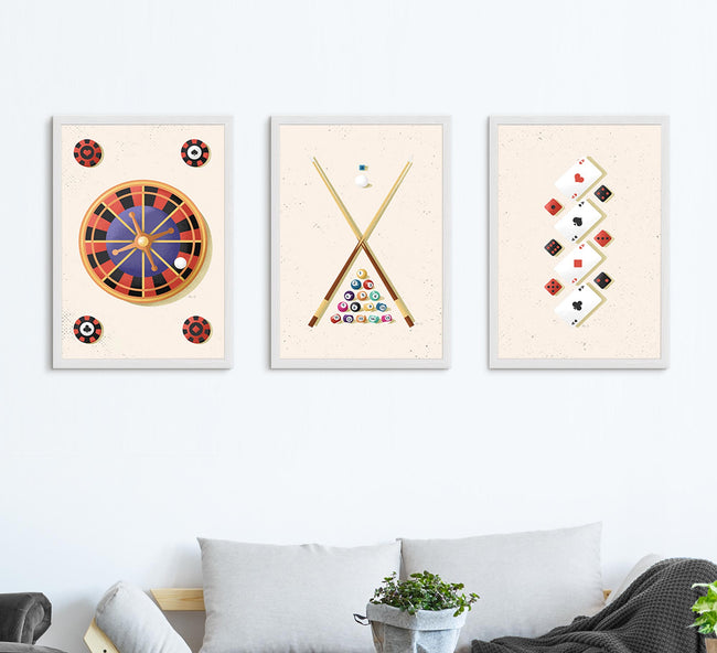 Game Room Gallery - Set of 3