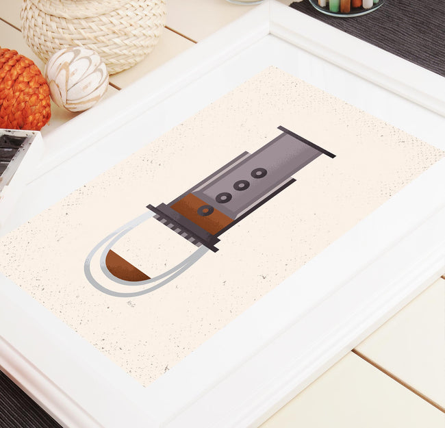 AeroPress - Coffee Poster - Framed Art