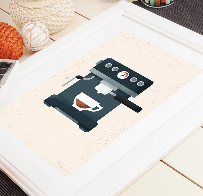 Espresso - Coffee Poster - Framed Art