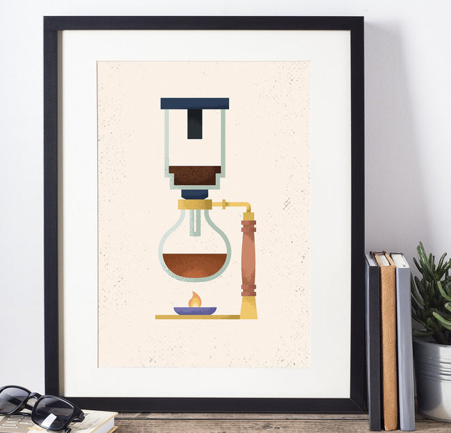Siphon - Coffee Poster - Framed