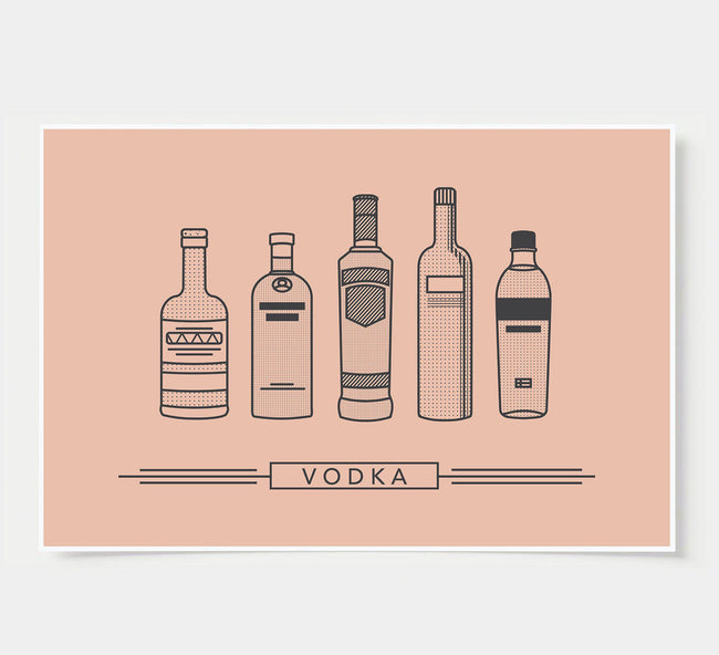 bar poster - rustic - vodka