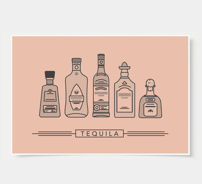bar poster - rustic - tequila