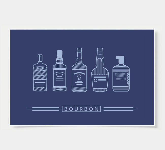 Bourbon - Wall Poster - Bar Poster